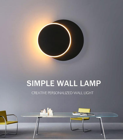 Kiruna black LED wall light