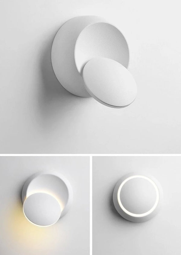 Kiruna adjustable white LED wall light