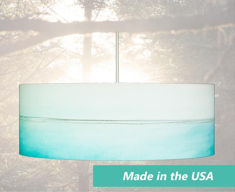 Aqua Lines drum pendant light by Rowan Chase starts at just 139 usd