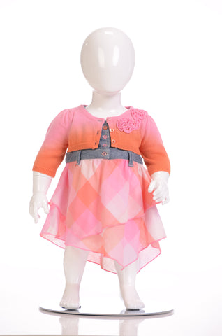 Petit Lem Cups & Cakes 3pc Dress (3-12m)