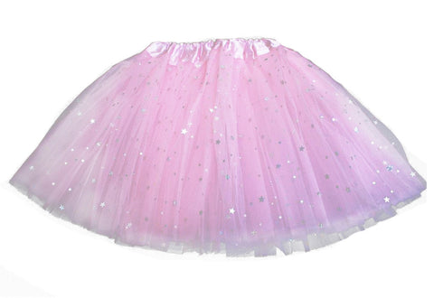 Sparkly Star Tutu - Baby Pink (6m-10yrs)