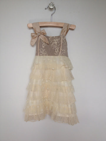Isobella & Chloe Creme Brulee Dress #7793TE (3m-4yrs)