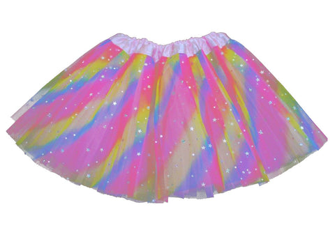 Sparkly Star Tutu - Rainbow (6m-10yrs)