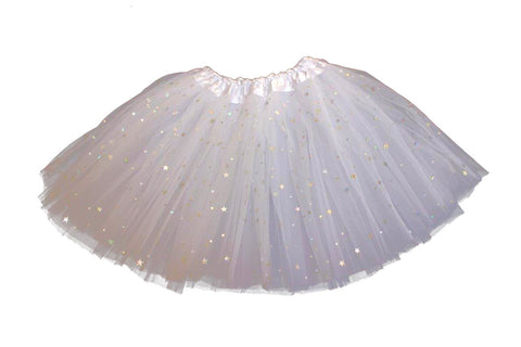 Sparkly Star Tutu - White (6m-10yrs)
