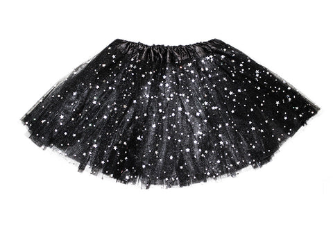 Sparkly Star Tutu - Black (6m-10yrs)