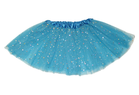 Sparkly Star Tutu - Turquoise (6m-10yrs)