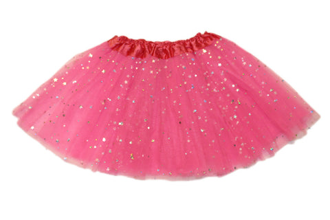 Sparkly Star Tutu - Hot Pink (6m-10yrs)