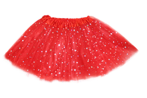 Sparkly Star Tutu - Red (6m-10yrs)