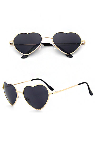 UV400 Protection Heart Shaped Ombre Sunglasses