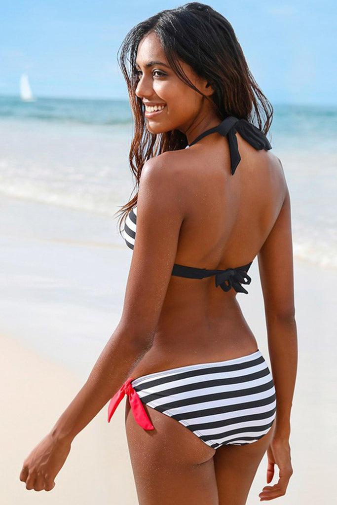 Stripe Color Block Bikini Set//Buy 4 Get Free Shipping(Code:freeship)