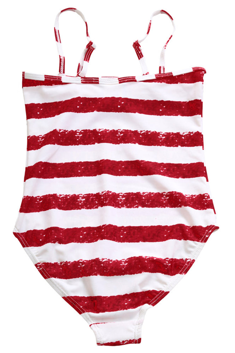 Kids Flag Tassel One-piece Swimsuit