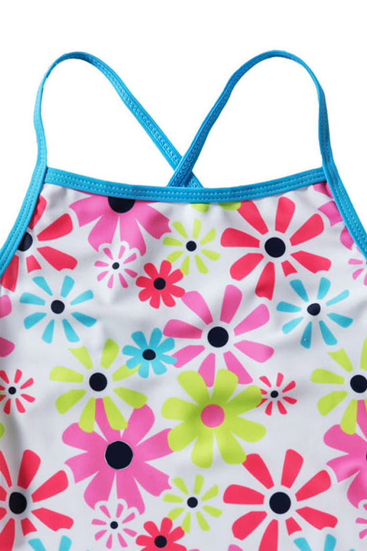 Kids Printed Backless One-piece Swimsuit