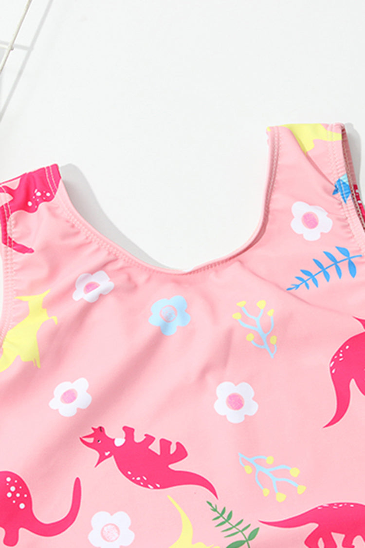Kids Animal Printed One-piece Swimsuit