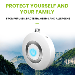 USB Portable Wearable Air Purifier Negative Ion Air Freshener Necklace (White)