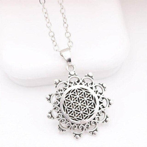 The Flower of Life Sacred Geometry Necklace For Energy Balance