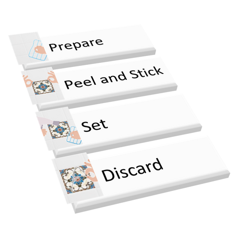 Link to 4 step installation instructions for 2D tile stickers