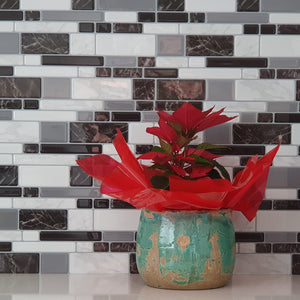 3D marble mosaic tile in kitchen