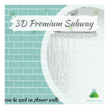 Load image into Gallery viewer, 3D Premium Peel and Stick Subway Tiles - Mint