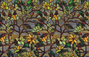 Magnolia Stained Glass Effect Privacy Window Film