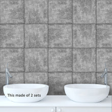 Load image into Gallery viewer, Cement Gray Self Adhesive Tile Stickers
