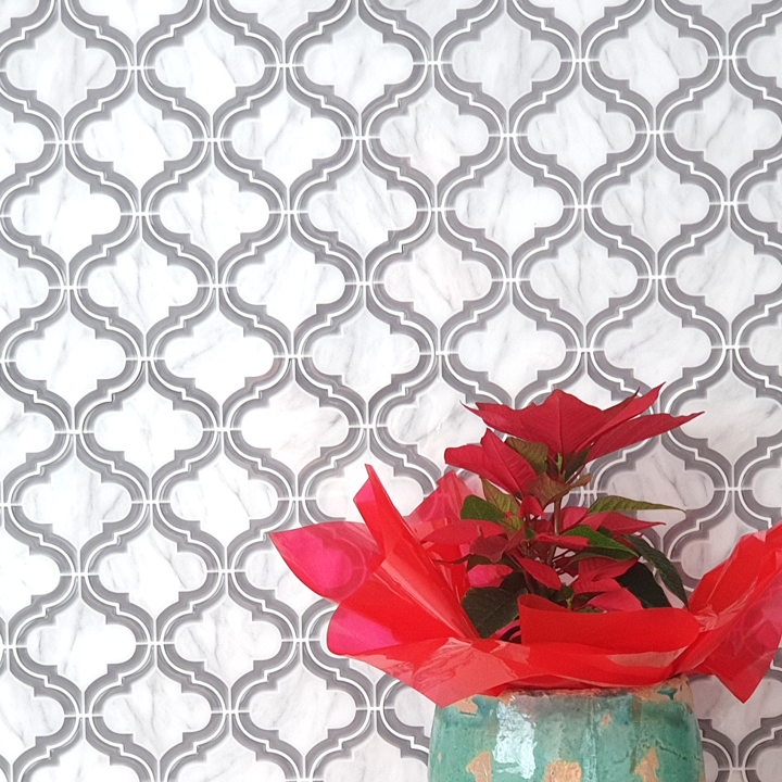 3D Moroccan tile in kitchen
