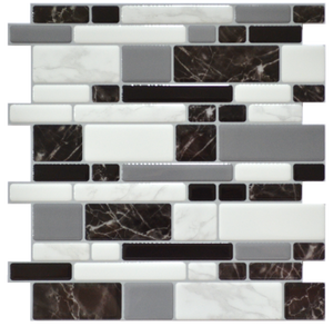 3D Premium Peel and Stick Tiles - Marble Mosaic
