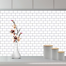 Load image into Gallery viewer, 3D Premium Peel and Stick Subway Tiles - White