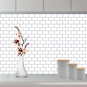 3D Premium Peel and Stick Subway Tiles - White