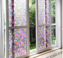 Load image into Gallery viewer, Geometric Stained Glass Effect Privacy Window Film