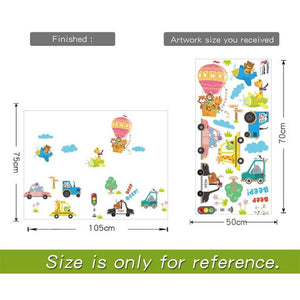 animals-in-vehicles-children-decal-sizing