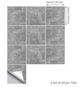 Cement Gray 2D Peel and Stick Tiles