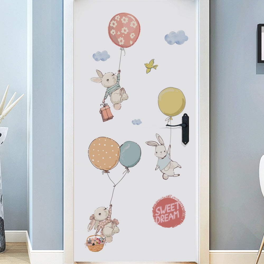bunnies-with-balloons-children-decal-on-door