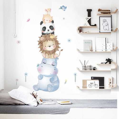 Animal Tower Wall Stickers