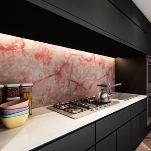 Rose pink agate removable wallpaper splashback