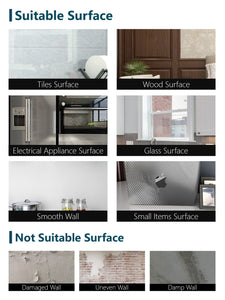Suitable and unsuitable surfaces for removable wallpaper