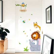 Load image into Gallery viewer, jungle-animal-children-decal-on-wall