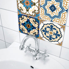 Load image into Gallery viewer, Moroccan Blue Self Adhesive Tile Stickers