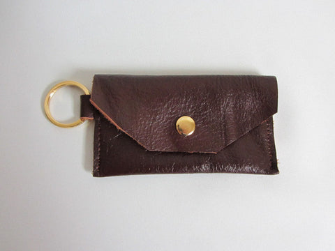 Chestnut Brown Leather Thin Wallet