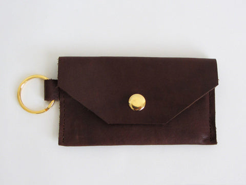 Espresso Brown Leather Thin Wallet