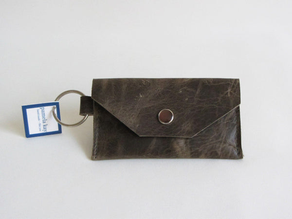 Military Green Leather Thin Wallet