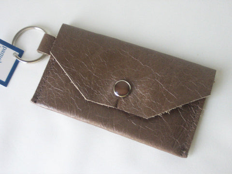 Taupe Mushroom Leather Thin Wallet