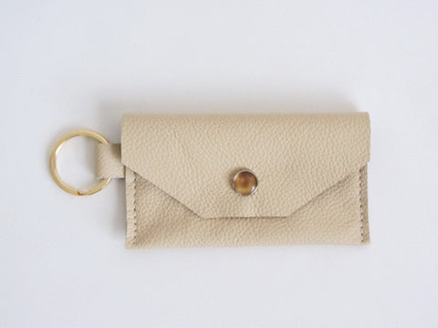 Vanilla Cream Leather Thin Wallet