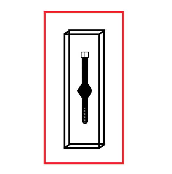 Symbol for watch storage and display watch membrane box.