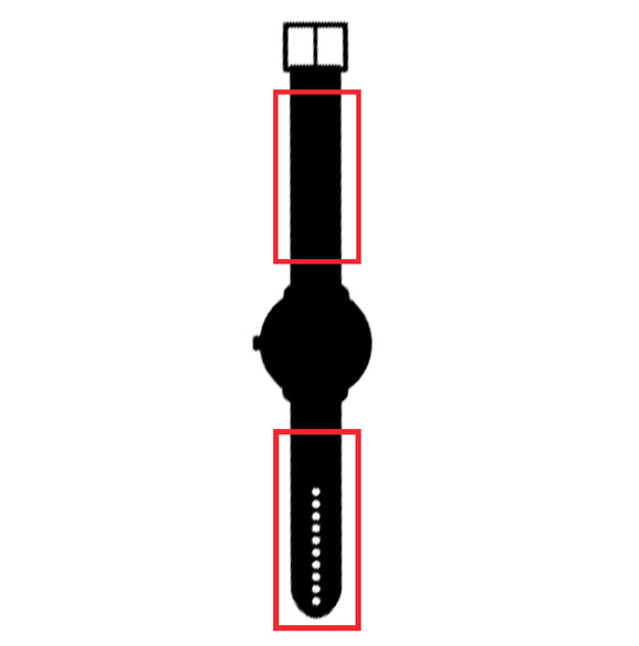 This is the symbol for the watch strap sleeves.