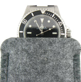 Felt watch pouches are a unique way to store your watch. The strap hangs out for easy identification of the watch.