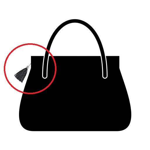 Symbol for handbag hardware protective vinyl sheets.