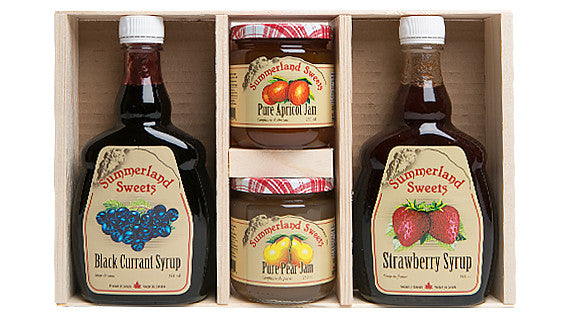 Gift Package #12: 2 - 341 ml Syrups, 2 - 250 ml Jams