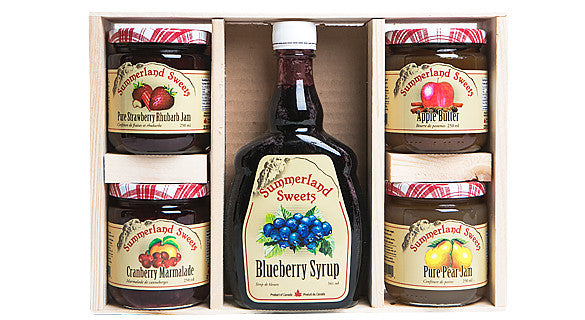 Gift Package #13: 1 - 341 ml Syrup, 4 - 250 ml Jams