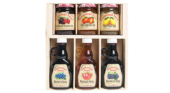 Gift Package #14: 3 - 125 ml Syrups, 3 - 125 ml Jams