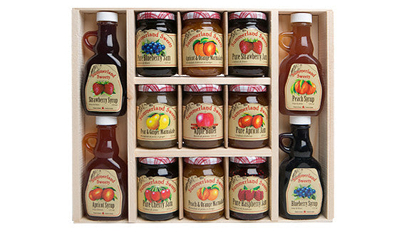 Gift Package #18: 4 - 125 ml Syrups, 9 - 125 ml Jams